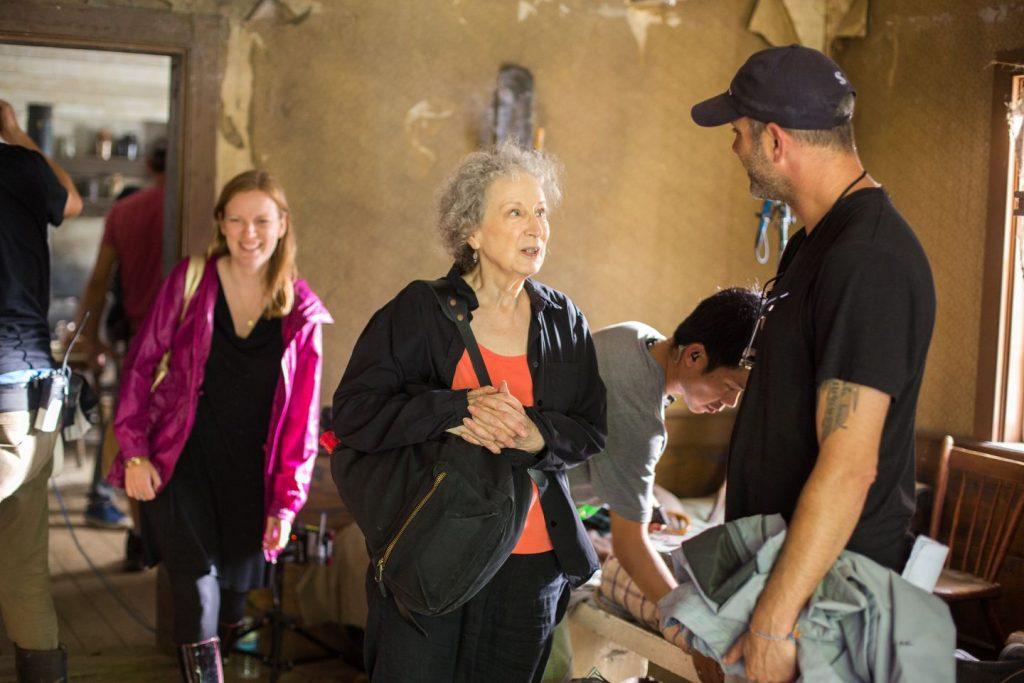 "Screenwriter Sarah Polley (left) and author Margaret Atwood on the set of ""Alias Grace.""SABRINA LANTOS"