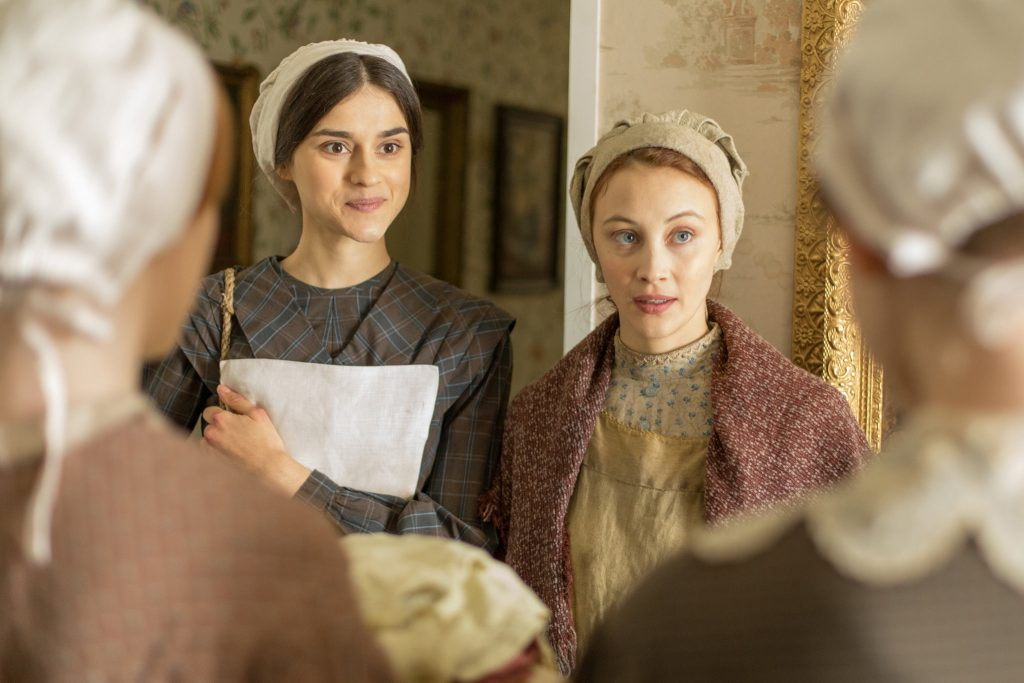 "Rebecca Liddiard, left, and Sarah Gadon on ""Alias Grace."" Credit...Sabrina Lantos/Netflix"