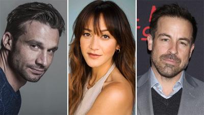 (L-R) Dillon Casey, Shannon Chan-Kent and Kurt Yaeger Denise Grant/Farrah Aviva/Shutterstock